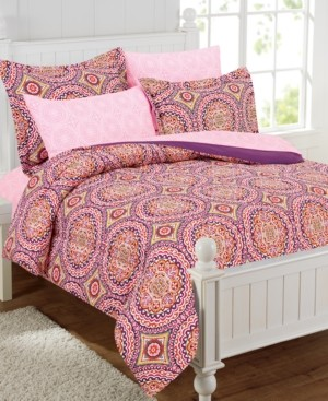 Mytex Thalia 11-Piece Bed-In-a-Bag With Extra Sheet Set, Full Bedding