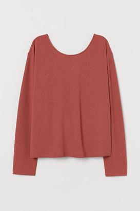 H&M Wrapover-back Top - Orange
