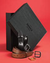 Shinola Leather Belt Boxed Gift Set