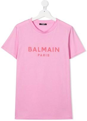 Balmain Kids TEEN logo-print T-shirt