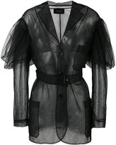 Simone Rocha sheer single breasted coat - women - Polyimide - 6