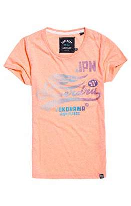 Superdry Women's High Flyers Fade Dot Entry Tee Kniited Tank Top,(Size: 10)