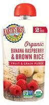 Earth Earth's Best Organic Stage 2 Banana Raspberry Brown Rice Baby Food 4.2 oz
