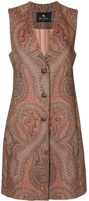 Etro Paisley-Print Tailored Gilet