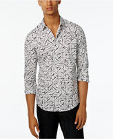 INC International Concepts Men's Crosshatch Poplin Long-Sleeve Shirt, Only at Macy's