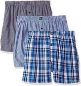 Geoffrey Beene Men's 3 Pack Soft Finish Assorted Boxers