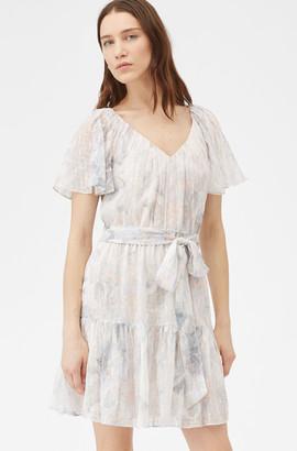 Rebecca Taylor Shadow Lily V-Neck Dress