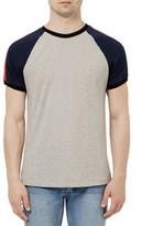 Topman Raglan Stripe Crewneck T-Shirt