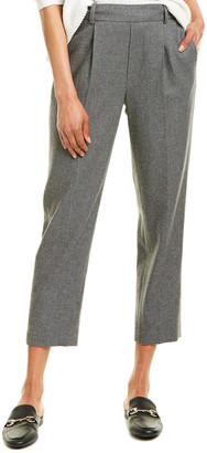 Vince Easy Tapered Pull-On Wool-Blend Pant