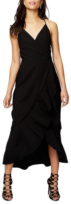 Rachel Roy Ruffle Front Midi Dress