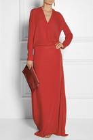 Mason by Michelle Mason Wrap-effect silk-georgette gown
