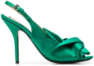 No.21 Knot-Detail Slingback Pumps