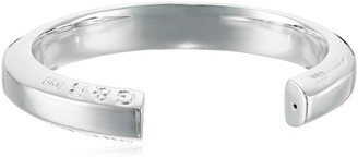 Giles & Brother Giles and Brother Polished Hex Cuff Bracelet in Silver-Finished Brass