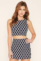 Forever 21 FOREVER 21+ Textured Crisscross Mini Skirt