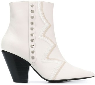 Toga Pulla Embroidered Ankle Boots