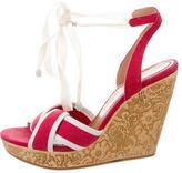 See by Chloe Bicolor Wedge Sandals