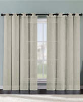 "Victoria Classics Ritz Metallic Printed Faux Linen 54"" x 84"" Curtain Panel Bedding"