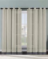 "Victoria Classics Ritz Metallic Printed Faux Linen 54"" x 84"" Curtain Panel"