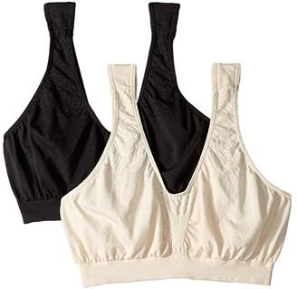 Bali Comfort Revolution Microfiber Crop Bra 2-Pair (White/Nude) Women's Bra