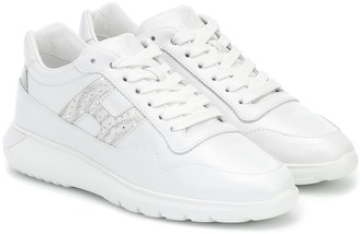 Hogan InteractiveA leather sneakers