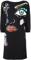Moschino abstract face dress