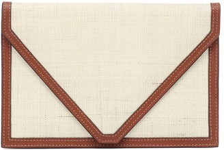 Hunting Season The Envelope leather and fique clutch