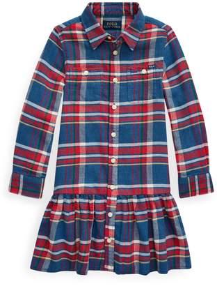 Ralph Lauren Childrenswear Little Girl's Plaid Cotton Shirt Dress