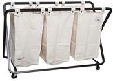 American Vintage Triple laundry Sorter - Cream Canvas