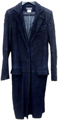 Ann Demeulemeester Black Leather Coat for Women