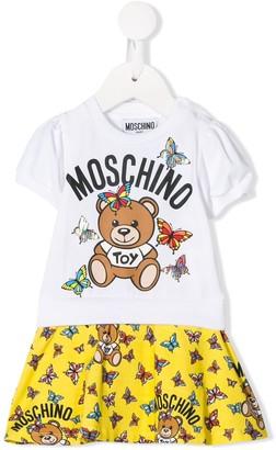 MOSCHINO BAMBINO Logo Short-Sleeve Dress