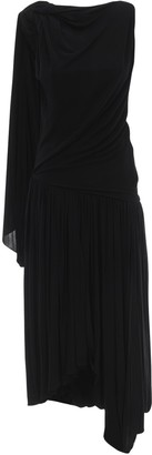 J.W.Anderson One-Sleeve Draped Jersey Dress