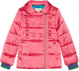 Gucci Children's nylon padded ruffle jacket