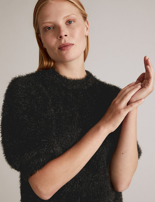Marks and Spencer Tinsel Puff Sleeve Jumper