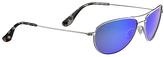 Maui Jim Silver & Blue Hawaii Baby Beach Polarized Aviator Sunglasses - Unisex