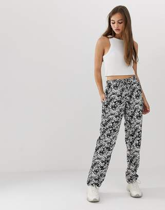 Noisy May abstract print straight leg trouser