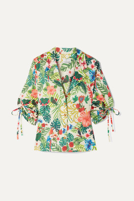 Miguelina Kelly Printed Cotton-voile Shirt - Light green