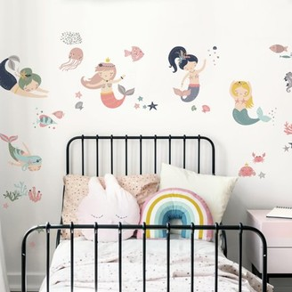 Room Mates RoomMates Sweet Pastel Mermaids Peel and Stick Wall Decals