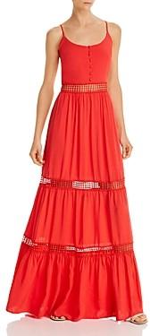 BB Dakota Chill Lace-Inset Maxi Dress
