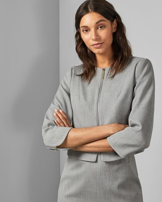 Ted Baker Cropped Textured Jacket