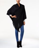 Cejon Sequined Knit Poncho