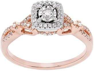 Promise Love Forever 14k Rose Gold Over Silver 1/4 Carat T.W. Diamond Ring