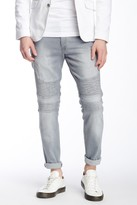 Ron Tomson Faux Leather Distressed Quilted Skinny Jean
