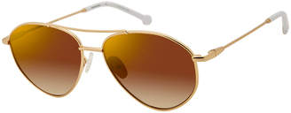 Colors In Optics Breezy Metal Mirrored Sunglasses, White Gold