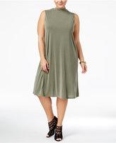ING Trendy Plus Size Lace-Up Shift Dress