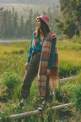 Urban Outfitters Brushed Plaid Scarf