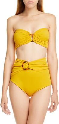 Johanna Ortiz Ring Detail High Waist Bikini Bottoms