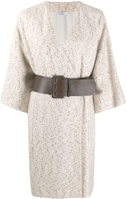 Brunello Cucinelli Sequin Embellished Belted Dress