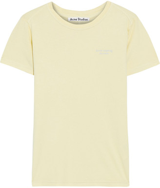 Acne Studios Wanda Embroidered Cotton-jersey T-shirt