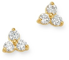 Bloomingdale's Diamond Three-Stone Stud Earrings in 14K Yellow Gold, 0.20 ct. t.w. - 100% Exclusive