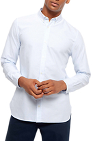Jaeger Smart Striped Shirt, White/blue